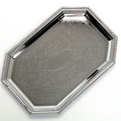 Carlisle 608902 Octagonal Tray with Beaded Border - Servingware
