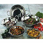 Carlisle 64 oz Stainless Steel Balti Dishes - Servingware