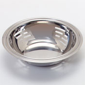 "Carlisle 7-7/8"" Stainless Steel Round Slotted Display Bowls - Servingware"