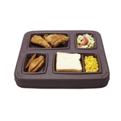 Cook's Brown 5 Compartment Gator Trays - Cook's Brand