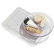 Carlisle Petal Mist Clear Rectangular Trays - Servingware