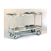 "Lakeside Heavy-Duty 55"" x 23"" 2-Shelf Utility Cart"