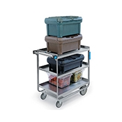 "Lakeside Heavy-Duty 55"" x 23"" 3-Shelf Utility Cart"