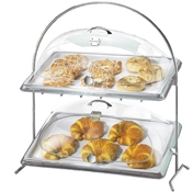 Cal-Mil Clear Tray Cover for 2-Tier Arch Wire Frame - Servingware