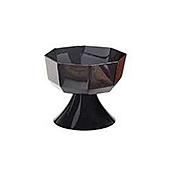 "Carlisle 7 lb, 2"" Black Octagon Pedestal Bowls - Servingware"
