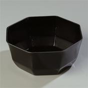 """Carlisle 8 lb, 9-3/8"""" Black Octagon Bowls - Servingware"""