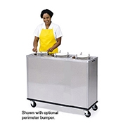Lakeside 962 Adjust-a-Fit Mobile Plate Dispenser - Lakeside