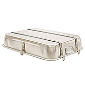 Economy Double Roaster Pan with Straps & Lugs - Aluminum Roasting Pans