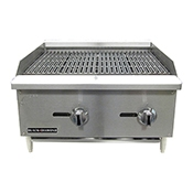 "FSE Black Diamond BDECTC-24 24"" Standard Series Charbroiler - Foodservice Essentials"