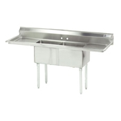 Advance Tabco FE-2-1812-18RL-X Stainless Steel Fabricated Sink