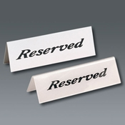 American Metalcraft Heavy Weight Reserved Sign - American Metalcraft