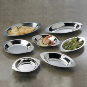American Metalcraft Oval 12 oz. Au Gratin Dish - American Metalcraft