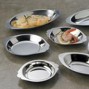 American Metalcraft Round 10 oz. Au Gratin Dish - American Metalcraft