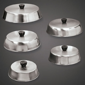 """American Metalcraft 7.5"""" Round Stainless Basting Cover - American Metalcraft"""