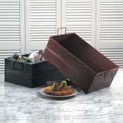 American Metalcraft Copper Large Hammered Tub Rectangle - American Metalcraft