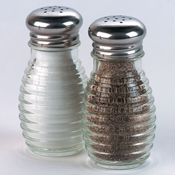 American Metalcraft 2 oz Beehive Salt & Pepper Shakers - American Metalcraft