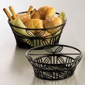 "American Metalcraft Leaf, 9"" Dia. Round Bread Basket - American Metalcraft"