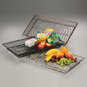 "American Metalcraft Chrome 20-1/2"" Rectangular Birdnest Basket - American Metalcraft"
