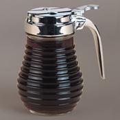 American Metalcraft BSD64 6 oz. Beehive Syrup Dispenser w/Flap Lid - American Metalcraft