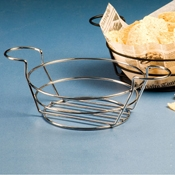 "American Metalcraft Chrome 8"" Dia. Wire Basket with Ramekin Holder - American Metalcraft"
