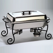 American Metalcraft Ornate Wrought Iron Chafer Frame & Cup - American Metalcraft