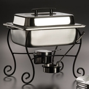 American Metalcraft 1/2 Size Chafer Frame & Cup - American Metalcraft
