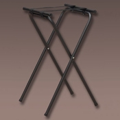 """American Metalcraft Black Chrome Top 19-1/2"""" x 15"""", 31""""H - Tray Stands"""