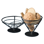 "American Metalcraft 7""W Conical Bread Basket - American Metalcraft"