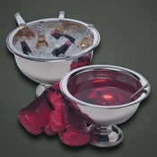 American Metalcraft 13 qt Hammered Punch Bowl - American Metalcraft