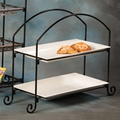 American Metalcraft Wrought Iron 2-Tier Stand Rectangle - Display Risers