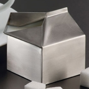 American Metalcraft 3 oz Milk Carton Creamer - American Metalcraft