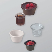 American Metalcraft 4 oz. Black Melamine Replacement Ramekin - American Metalcraft