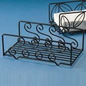 American Metalcraft Napkin Basket with Swirl Pattern Rectangle - American Metalcraft