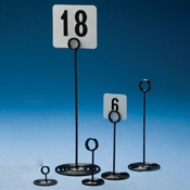 """American Metalcraft 4"""" Black Number Stand with Swirl Base - American Metalcraft"""