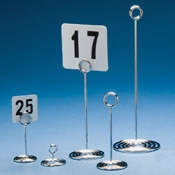 "American Metalcraft 8"" Chrome Number Stand with Swirl Base - American Metalcraft"