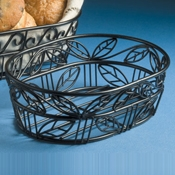 "American Metalcraft Leaf 6-3/4"" Oval Bread Basket - American Metalcraft"