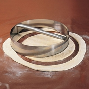 "American Metalcraft 10"" Stainless Dough Cutting Ring - Dough Cutters"