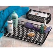 "American Metalcraft 20""L Rectangular Scroll Basket - American Metalcraft"