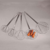 """American Metalcraft Round Coarse 6"""" Dia Tinned Skimmer - Skimmers and Strainers"""