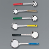 American Metalcraft 6 oz Black Solid Spooner - Portion Utensils