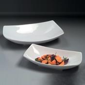 American Metalcraft 22 oz Ceramic Sqoval Bowl - American Metalcraft
