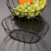 "American Metalcraft Straight 6"" Mesh Bottom Basket - American Metalcraft"