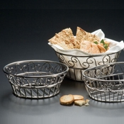 "American Metalcraft 8"" Dia. Stainless Scroll Bread Basket - American Metalcraft"