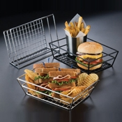 "American Metalcraft Stainless 9"" Grid Basket - American Metalcraft"
