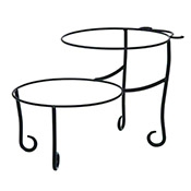 "American Metalcraft 12"" x 19"" Black Iron Pizza Stand - Pizza Stands"