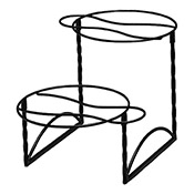 American Metalcraft Black Twisted Iron 2-Tier Stand - Display Risers