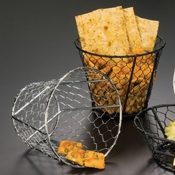 "American Metalcraft Chrome 7"" Dia. Chix Wire Basket - American Metalcraft"