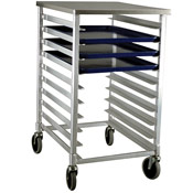 New Age Bun Pan Rack w/Polycarbonate Top