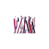 "Boardwalk 7-3/4"" Red Plastic Cocktail Straws  - Disposable Cups & Lids"
