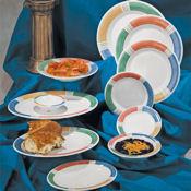 """G.E.T. Barcelona Dinnerware 6.5"""" Wide Rim Plates  - Dinner Plates"""